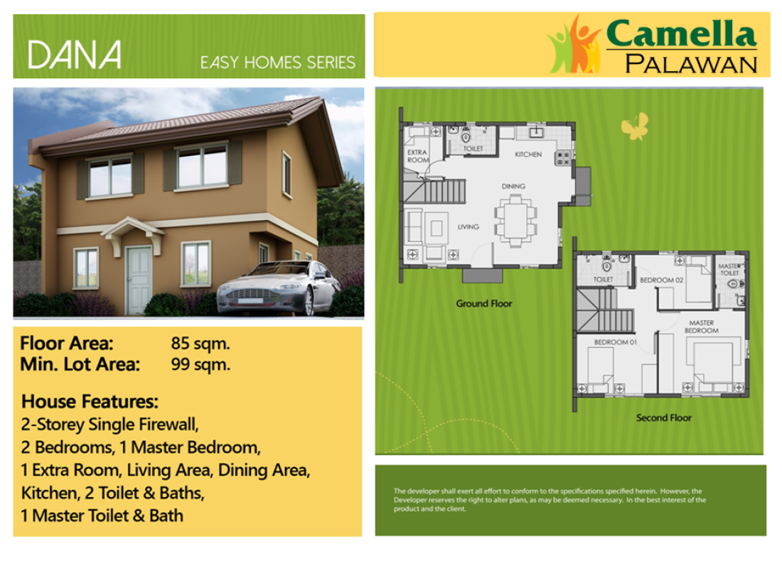 Camella Homes Puerto Princesa,MIMAROPA 5300,House and Lot,1022